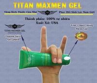 Gel Titan MaxMan Green tăng kích thước dương vật siêu tốc
